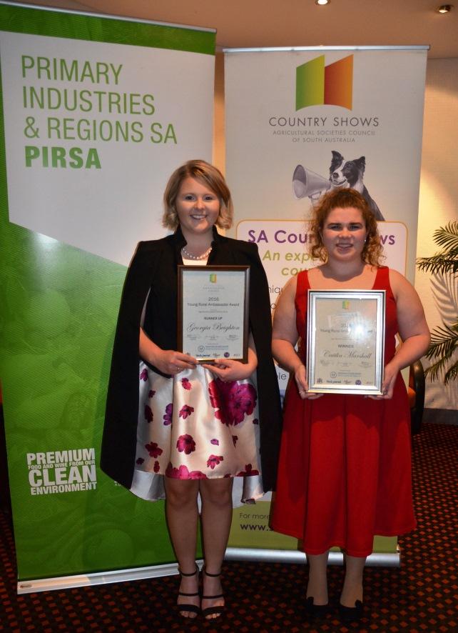 2016 Young Rural Ambassador Award Winner and Runner Up