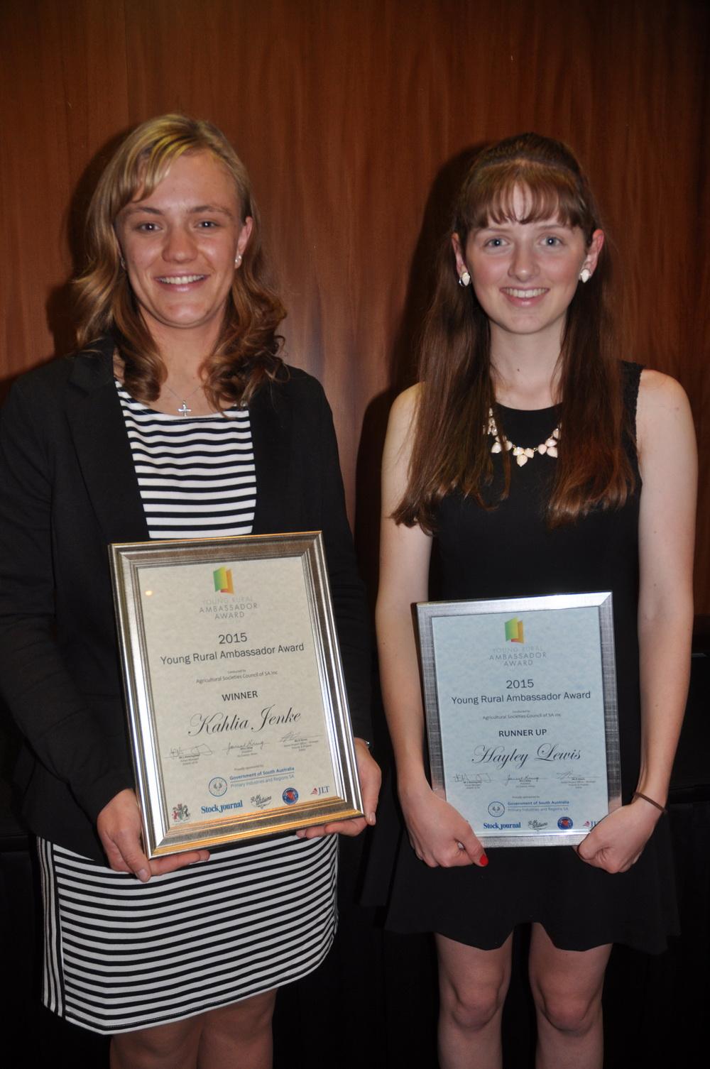 2015 Young Rural Ambassador Award Winner and Runner Up