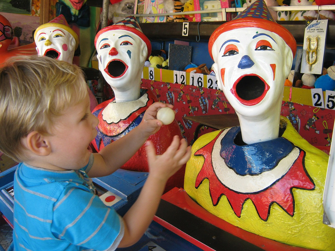 clowns, fun fair, carnival